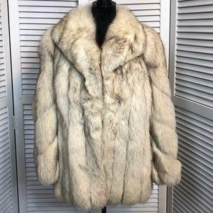 Vintage Saga Fox Blue Fox Fur Coat